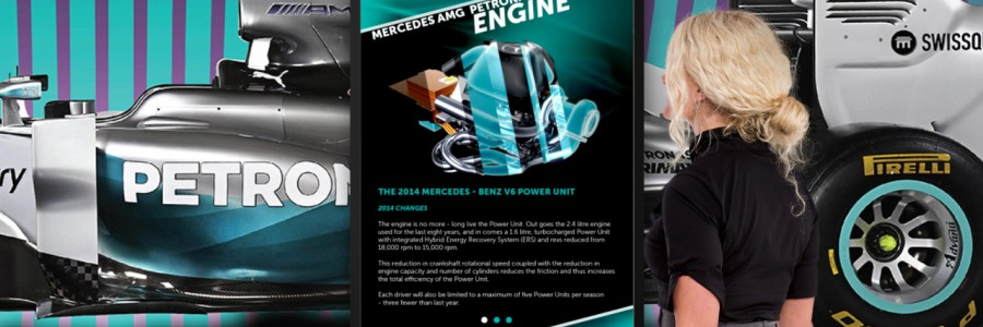 Petronas F1 Interactive Panel