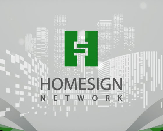 Homesign Sales Gallery Wall Projection